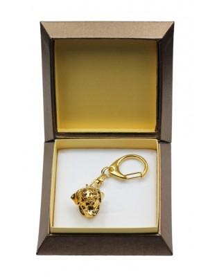 Rottweiler - keyring (gold plating) - 2887 - 30562