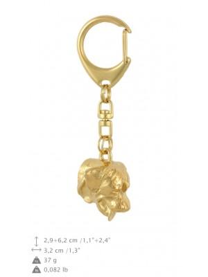 Rottweiler - keyring (gold plating) - 889 - 30152