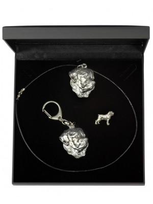 Rottweiler - keyring (silver plate) - 1925 - 14219