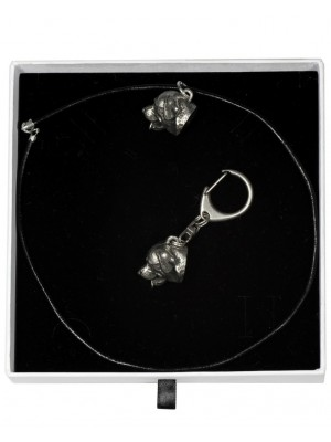 Rottweiler - keyring (silver plate) - 2025 - 16593
