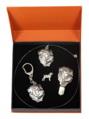 Rottweiler - keyring (silver plate) - 2296 - 24117