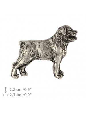 Rottweiler - pin (silver plate) - 460 - 25948