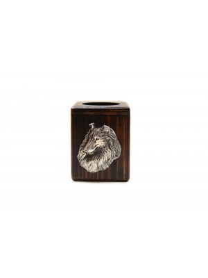 Rough Collie - candlestick (wood) - 3998 - 37895