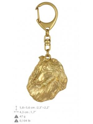 Rough Collie - keyring (gold plating) - 1735 - 25592