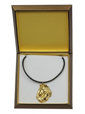 Rough Collie - necklace (gold plating) - 2527 - 27683