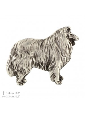 Rough Collie - pin (silver plate) - 2372 - 26085