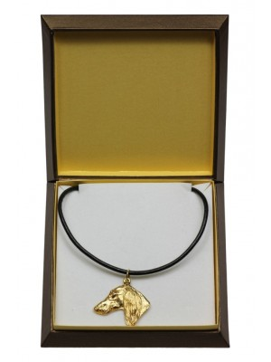 Saluki - necklace (gold plating) - 3022 - 31658