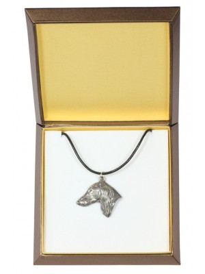 Saluki - necklace (silver plate) - 2902 - 31046