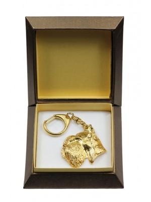 Schnauzer - keyring (gold plating) - 2849 - 30511
