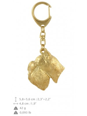 Schnauzer - keyring (gold plating) - 789 - 29110