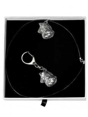 Schnauzer - keyring (silver plate) - 2032 - 16747