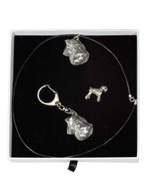 Schnauzer - keyring (silver plate) - 2093 - 18533