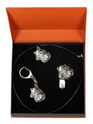 Schnauzer - keyring (silver plate) - 2285 - 23733