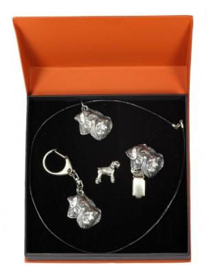 Schnauzer - keyring (silver plate) - 2301 - 24300