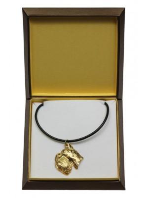 Schnauzer - necklace (gold plating) - 3028 - 31664