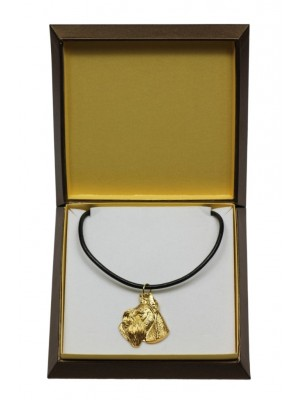 Schnauzer - necklace (gold plating) - 3045 - 31681