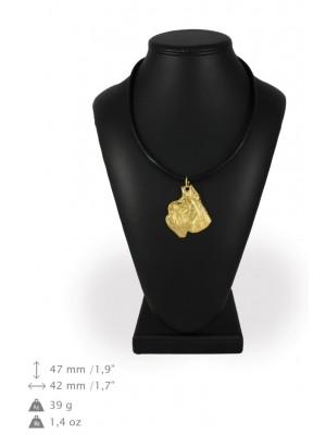 Schnauzer - necklace (gold plating) - 952 - 31281