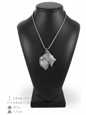Schnauzer - necklace (silver cord) - 3151 - 32972