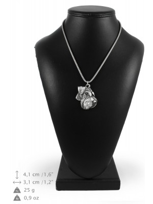 Schnauzer - necklace (silver cord) - 3250 - 33396