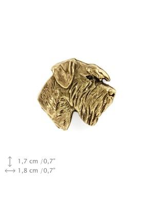 Schnauzer - pin (gold plating) - 1074 - 7776
