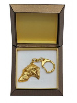 Scottish Deerhound - keyring (gold plating) - 2438 - 27309