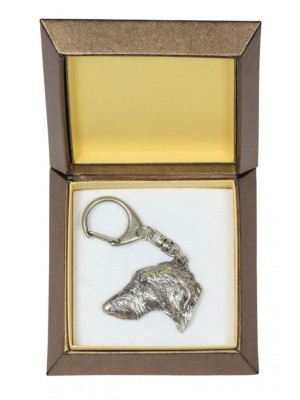 Scottish Deerhound - keyring (silver plate) - 2785 - 29905