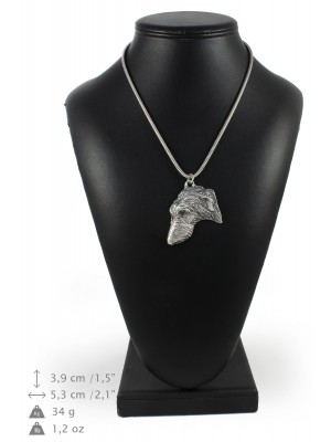 Scottish Deerhound - necklace (silver chain) - 3341 - 34493