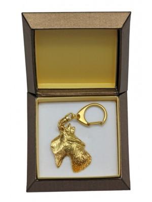 Scottish Terrier - keyring (gold plating) - 2427 - 27298