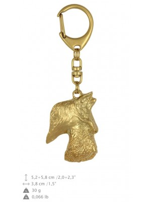 Scottish Terrier - keyring (gold plating) - 843 - 25197
