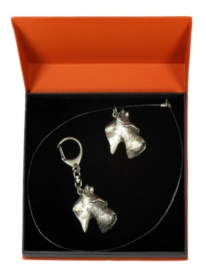 Scottish Terrier - keyring (silver plate) - 2172 - 20497