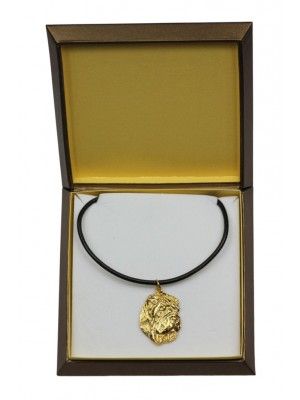 Shar Pei - necklace (gold plating) - 2473 - 27632