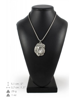 Shar Pei - necklace (silver chain) - 3284 - 34276