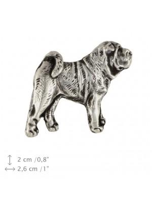 Shar Pei - pin (silver plate) - 1538 - 26049