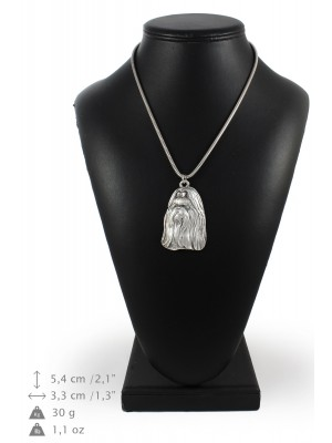 Shih Tzu - necklace (silver chain) - 3307 - 34353