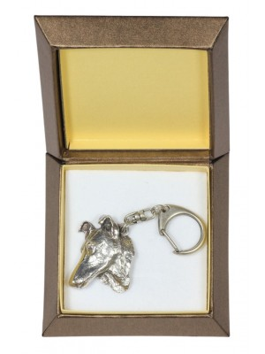 Smooth Collie - keyring (silver plate) - 2788 - 29908