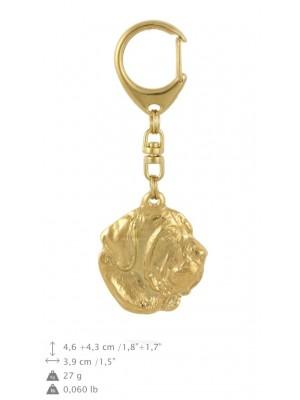 Spanish Mastiff - keyring (gold plating) - 848 - 30055