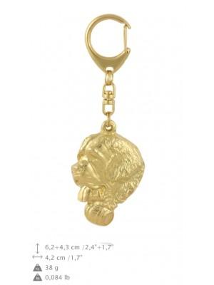St. Bernard - keyring (gold plating) - 849 - 30064