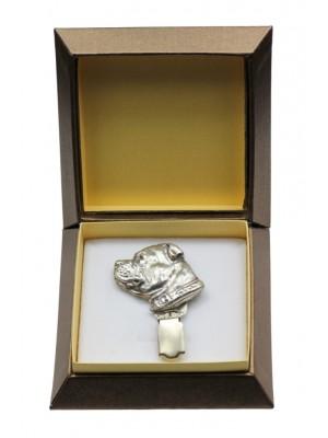 Staffordshire Bull Terrier - clip (silver plate) - 2545 - 28125