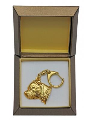 Staffordshire Bull Terrier - keyring (gold plating) - 2454 - 27332