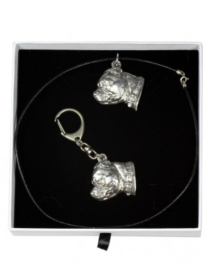 Staffordshire Bull Terrier - keyring (silver plate) - 1972 - 15288
