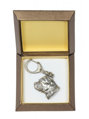 Staffordshire Bull Terrier - keyring (silver plate) - 2757 - 29876