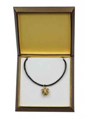 Staffordshire Bull Terrier - necklace (gold plating) - 2493 - 27652