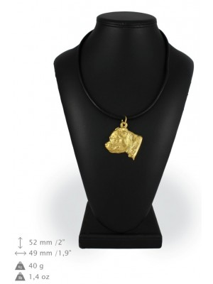 Staffordshire Bull Terrier - necklace (gold plating) - 942 - 25424