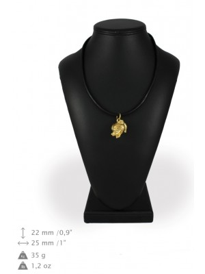 Staffordshire Bull Terrier - necklace (gold plating) - 949 - 31282