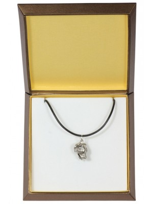 Staffordshire Bull Terrier - necklace (silver plate) - 2948 - 31092