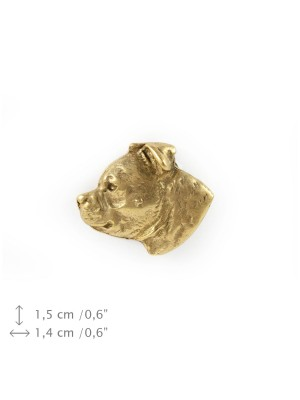 Staffordshire Bull Terrier - pin (gold plating) - 1571 - 7886