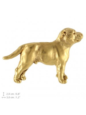 Staffordshire Bull Terrier - pin (gold plating) - 2379 - 26115