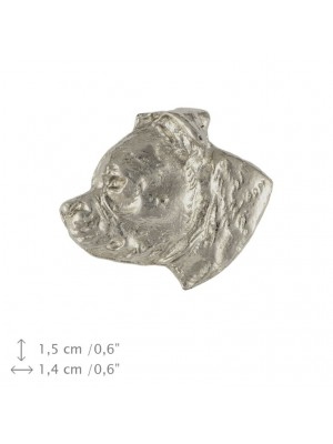 Staffordshire Bull Terrier - pin (silver plate) - 1569 - 26064