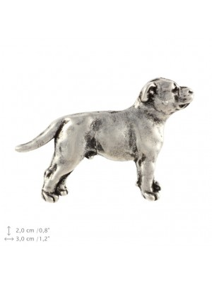 Staffordshire Bull Terrier - pin (silver plate) - 2229 - 22308