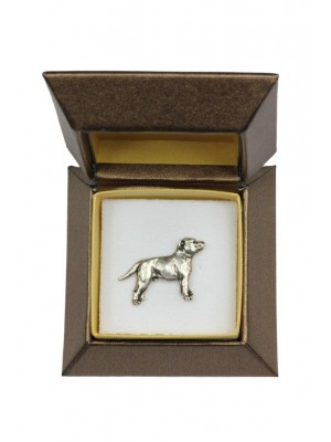 Staffordshire Bull Terrier - pin (silver plate) - 2680 - 28962